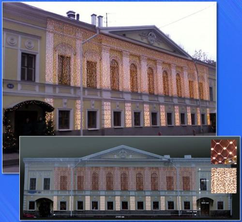 Дизайн-проект праздничного оформления фасада