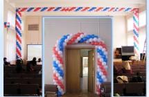 Оформление интерьера с помощью воздушных шаров