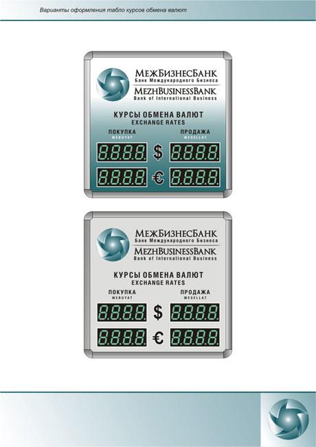 Дизайн табло валют