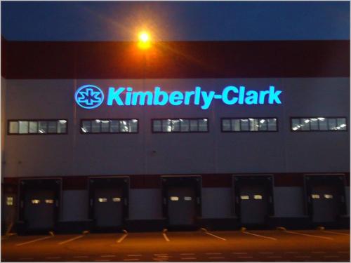 Объемные буквы с внутренней подсветкой на фасаде