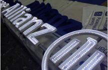 Световые объемные буквы на крышу