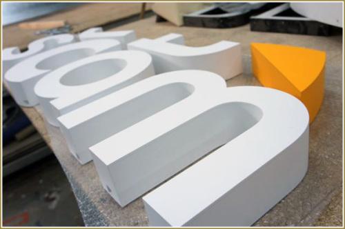 Объемные буквы из пластика — логотип