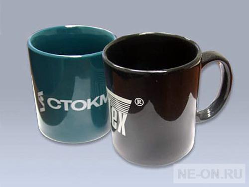 Кружки с логотипом компаний Нанесение деколь