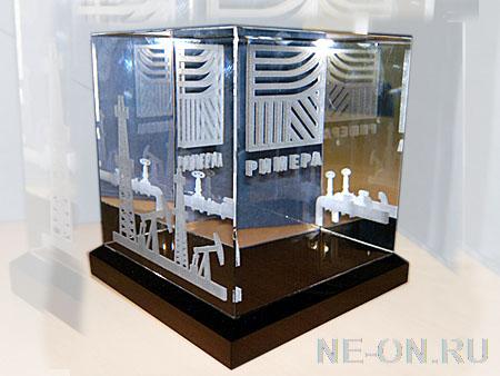 3Д — Гравировка в стеклянном кубе