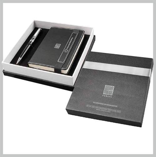 Бизнес-сувениры с нанесением логотипа Набор из ручки и записной книжки