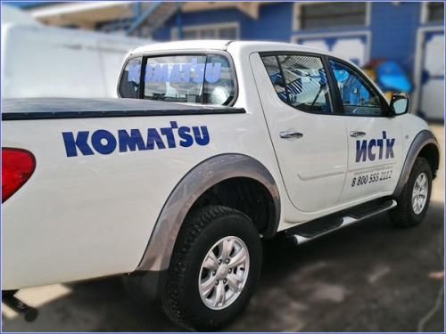 Оклейка корпоративного автотранспорта в Москве