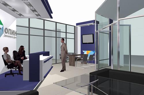 3- Дизайн-проект ресепшн и открытой зоны переговоров стилевого решения офиса девелопера