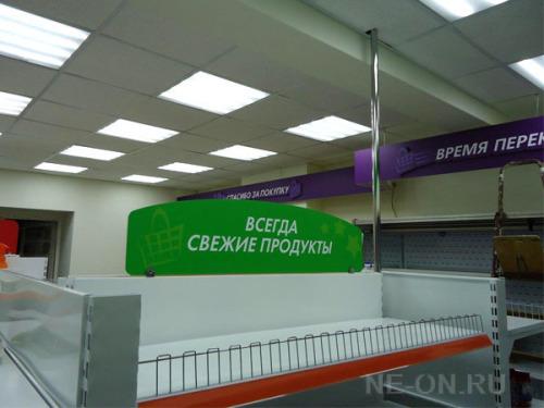 Рекламное оформление интерьера магазина