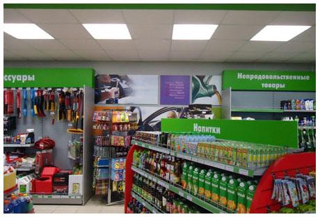Оформление сетевого магазина продуктов
