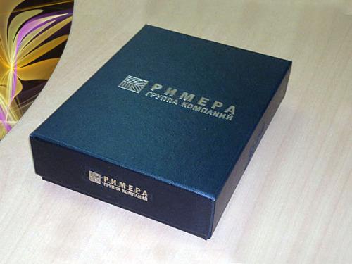 Брендирование коробки с сувенирами