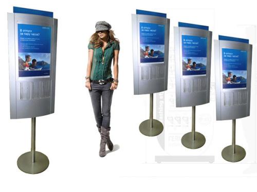Разработка рекламных стоек для банка