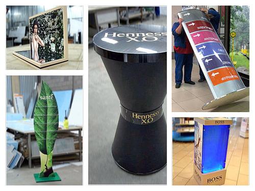 Производство стоек для рекламных материалов