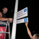 Установка навигационных наружных указателей