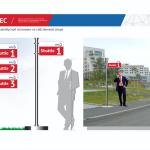Указатель автобусной остановки на собственной опоре