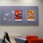 ПОС- материалы световые постеры на стене банка-3