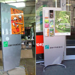 Рекламные стойки для банка