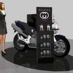 Нестандартное торговое оборудование для акции в бутик